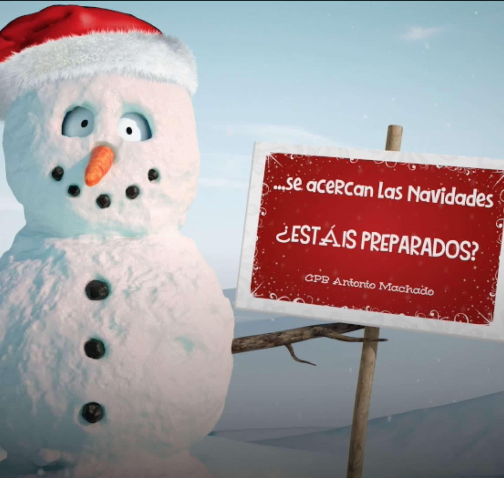 felicitación navidad colegio cpb antonio machado